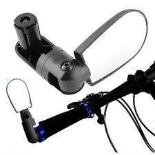 Mini Rotate Cycling Bike Handlebar Wide Angle Rearview Back Rear View Mirror