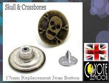 Rivetti RIVETTO Borchie Bottoni Jeans Denim in pelle da cucire sostituzione Cranio di 17 mm