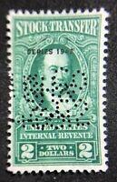 us revenue stamps stock transfer Scott RD128 Lot 3