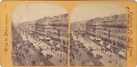 Boulevard Da Sevastopol Parigi Istantanea Stereo Vintage Albumina Ca 1865