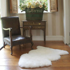 "US Stock 100% Genuine Sheepskin Rug 45x30"" White Ivory Throw Chair Cover NEW ALP"