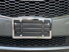 Bumper License Plate Mount Bracket + CHROME Frame + Chrome Screw Caps for CHEVY