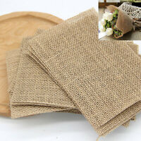 5Pcs Thick Jute Fabric Vintage Table Mat DIY Craft Patchwork Canvas DIY Handmade