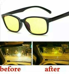 Yellow Lens Anti Glare Vision HD Night Driving Glasses Polarized Tinted Unisex