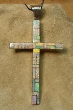 Cross (CR2) Zuni: Inlay White Opal Pendant