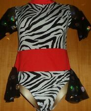 ZEBRA/WHITE/RED/SLEEVES/11/12 YEAR/FREESTYLE/COSTUME