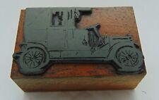 Vintage Printing Letterpress Printers Block Antique Car