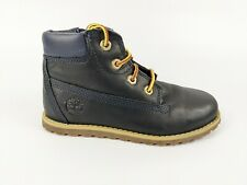 Timberland Boys Navy Leather Boots Uk 11 Eu 29