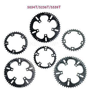 DRIVELINE Chainring Road Bike 53/52/50/39/36/34T 7075/T6 BCD 110MM Black,11Speed