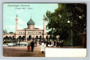 Copenhagen Denmark, Concert Hall, Tivoli Vintage Postcard