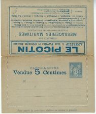 France 1887 15c Sage advertising letter card fine unused with red interior