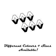 RENAULT  EMBLEM STICKER  LOGO BADGE SET OF 6 BLACK 44mm  ALLOYS WHEEL TRIMS