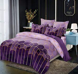 BBSET King Size Bedding Comforter Sets, 3 Pcs Marble Comforter Sets Geometric Gr