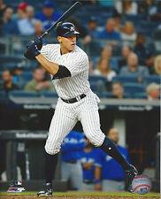 New York Yankees star Aaron Judge  8x10 color intense batting   photo