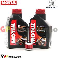 TAGLIANDO OLIO + FILTRO MOTUL 7100 15W50 2L PEUGEOT 125 SATELIS COMPRESSOR 2010