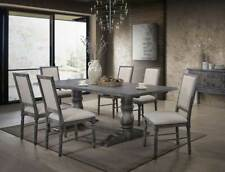 NEW Rustic Weathered Gray Dining Room - 7 piece Rectangular Table Chairs Set CAG