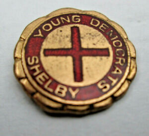 Vintage Young Democrats Shelby Lapel Pin Possibly from Tennessee