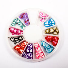 120pcs (1BOX) Heart Wheel DIY Decor Fimo Clay Nail Tips Art Slice Craft A1715-3