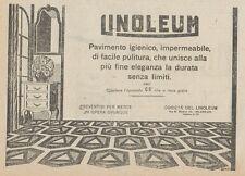 Z1519 Pavimento igienico LINOLEUM - Pubblicità d'epoca - 1925 Old advertising