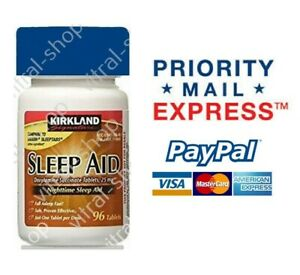 Kirkland Signature SleepAid 96 Tablets x 25 Mg Priority Shipping