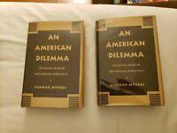 An American Dilemma (2 Volumes) by Gunnar Myrdal - 3rd Edition, VG