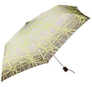 "Totes Light N' Go Trekker Umbrella With Manual Open Grey/Green - 39"""