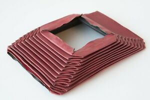Vintage Red Bellows For Large Format Camera