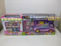 Shopkins Shoppies Sweet Treat Truck Deluxe w/ Bubbleisha & 8 Shopkins NEW