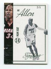 Ray Allen 2/5 2012-13 Panini Signatures Chase Stars #373 Green Parallel Heat