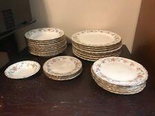 Vintage Vernon Kilns California 18 Karat Gold China Set- Roses with Gold Trim