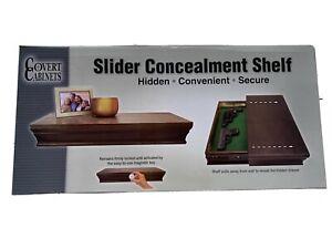 Covert Cabinets GS-24 Hidden Hand Gun Storage Wall Cabinet Shelf, Espresso