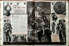 More details for arms and the man, knights and armour vintage article by charles cammell 1949