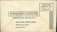 ~1960 USA Business Reply Envelope Ganzsache Reklame Amerika Jamaica N.Y. Brief