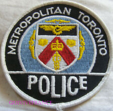 IN12749 - PATCH INSIGNE TISSU METROPOLITAN TORONTO POLICE