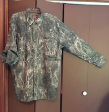 Marlin Logo Camouflage Camo Roll Sleeve Outdoor/Hunting/Fishing Shirt L NWOT