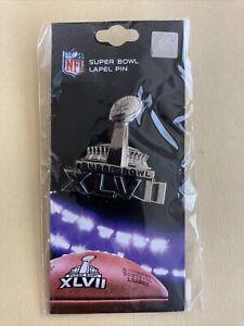 Super Bowl 47 XLVII NFL Badge Pin 2013 Ravens vs 49ers  New