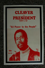 Eldridge Cleaver #1 For President campaign poster 1968 All Power to the People