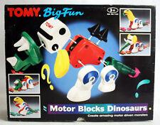 RARE VINTAGE 90'S TOMY BIG FUN MOTOR BLOCKS DINOSAURS BATTERY OP NEW MIB !
