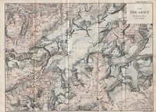 1903 ANTIQUE MAP- SWITZERLAND-THE TODI GROUP