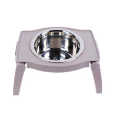 Elevated Foldable Dog Stainless Steel Food Water Bowl No-Slip Raised Feeder Bowl
