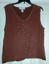Ladies 2 Piece Outfit-Size Xl/18-Dark Rust with Embellishments-Norton Studio
