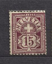 Used Postage Due Swiss Stamps