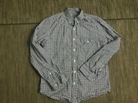 J Crew Men's Medium Lightweight Button Down Shirt Long Sleeve Blue White Checker