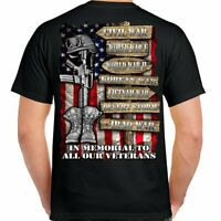 T Shirt Bike 2nd Amendment Soldier fallen war  Biker Skull Motorcycle no Harley