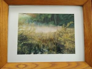 Watercolor Drawing of a Rising Mist in Adirondack Mountains (NY)