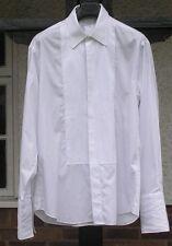 "M&S mens white cotton dress shirt size 16"" 42cm collar VGC prom"