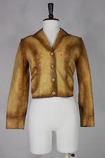 vintage Adam Eve leather jacket S to M handmade 70's east west hippie vtg