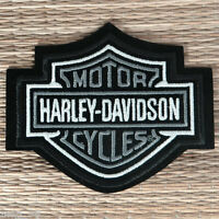 Harley Davidson Classic Silver Logo Sew-on Patch (Small) - Made in US