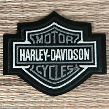 Harley Davidson Classic Silver Logo Sew-on Patch (Small)