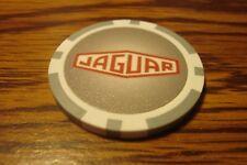 JAGUAR Car LOGO design Poker Chip Golf Ball Marker - Card Guard Grey & White